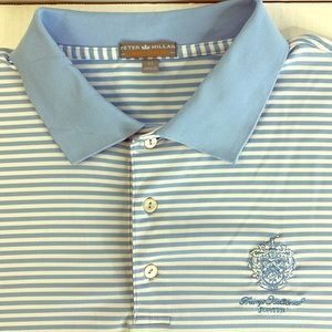 Peter Millar summer comfort polo shirt striped XL